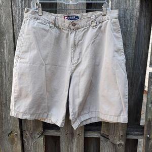 Chaps Ralph Lauren Khaki Shorts Size 36 pockets